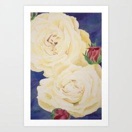 Ivory Roses Art Print