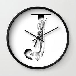 Mermaid Alphabet Series - J Wall Clock