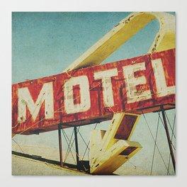 Thrashed Motel Sign Canvas Print
