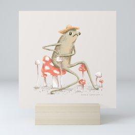 Awkward Toad Mini Art Print