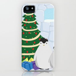 Penguins on Christmas Morning iPhone Case