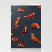 foxes Stationery Cards featuring Foxes by Katelyn Patton