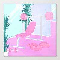 workout Canvas Prints featuring Workout by KaunoArt