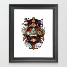 Ghibli Izakaya Print Coloured Framed Art Print