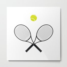 Tennis Racket And Ball 2 Metal Print