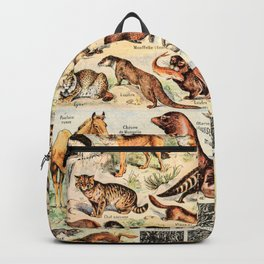 Cute Animals // Fourrures by Adolphe Millot XL 19th Century Science Textbook Diagram Artwork Backpack