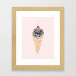 Disco Cone Framed Art Print