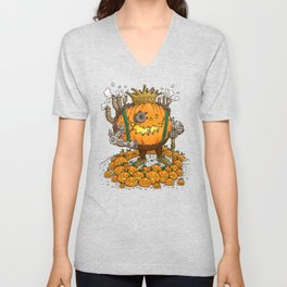 The Steampunk Pumpking Unisex V-Neck