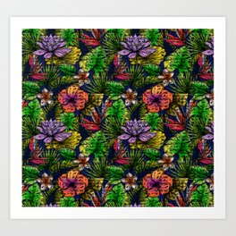 Tropical Rainforest Art Print