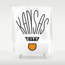Kansas City Shuttlecock Type Shower Curtain