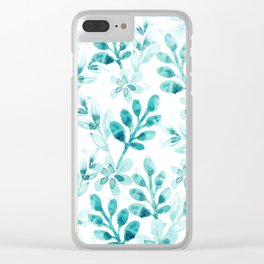 Watercolor Floral VV Clear iPhone Case