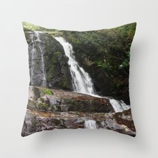 Tennessee Waterfall Smoky Mountains Color Photo Throw Pillow