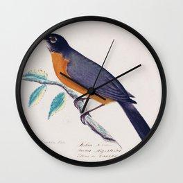 Robin - John James Audubon Wall Clock