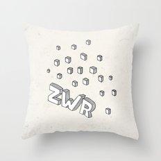 ZWR sugarcubes Throw Pillow
