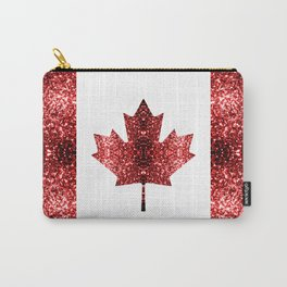 Canada flag red sparkles Carry-All Pouch