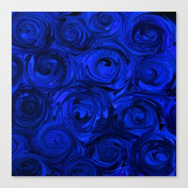 China Blue Rose Abstract Canvas Print