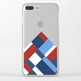 Map 45 Red White and Blue Clear iPhone Case