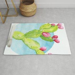 Cactus Bulb Watercolor Rug