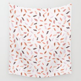 Falling Leaves Seamless Pattern Wall Tapestry