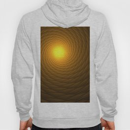 Abstract Fractal yellow spiral background Hoody