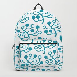 Mid Century Modern Berries Pattern turquoise Backpack