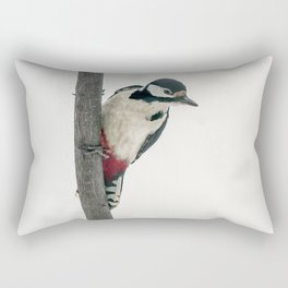 Knock, knock. Who's There? Woodpecker! Rectangular Pillow
