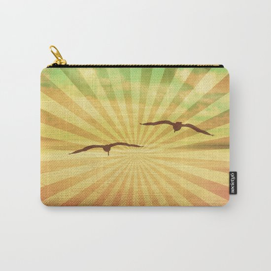 Fly With Me - vintage style Carry-All Pouch