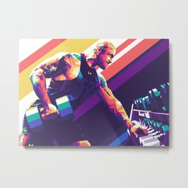Dwayne Johnson Pop Art Metal Print