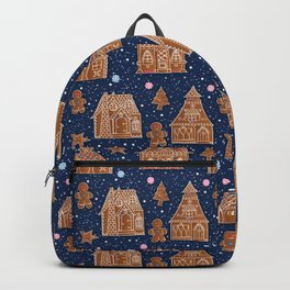 Snow Gingerbread house Backpack