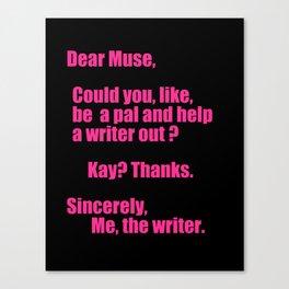 Dear Muse Canvas Print