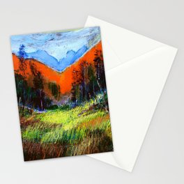 Mountain Meadow Landscape Stationery Cards