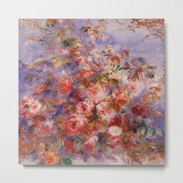 Auguste Renoir - Roses By The Window Metal Print