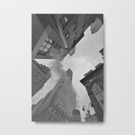 New York City Above (Black and White) Metal Print