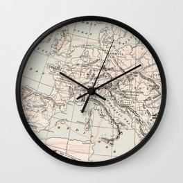 Vintage Fall of The Roman Empire Map (1901) Wall Clock