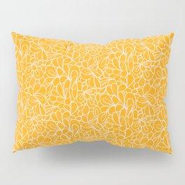 Retro Flowers in yellow Pillow Sham