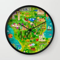 narnia Wall Clocks featuring Imagine Nation by Kitkat Pecson