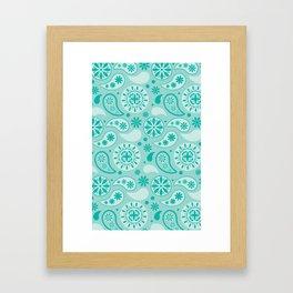 Bohemian Dream in Turquoise Framed Art Print
