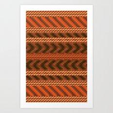 warao pattern Art Print