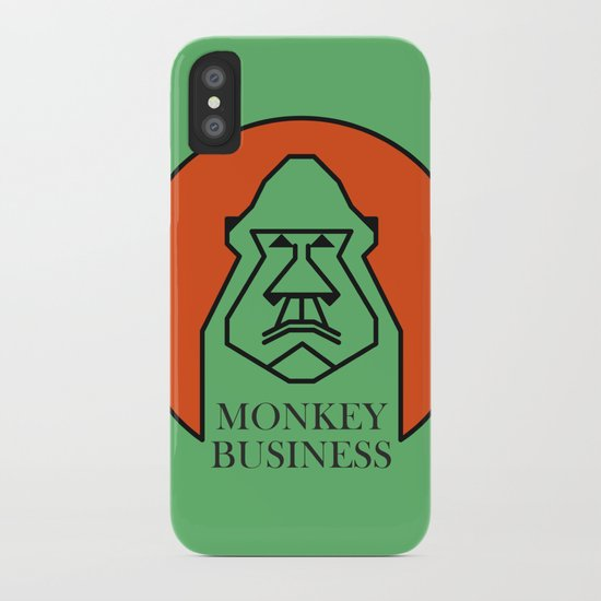 Monkey Business Green iPhone Case