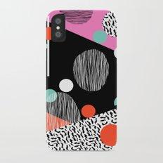 Mega Bulk - 80s style throwback retro pattern art memphis grid pattern minimalist 1980's Slim Case iPhone X