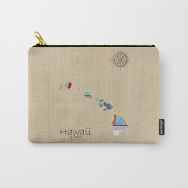Hawaii state map  Carry-All Pouch