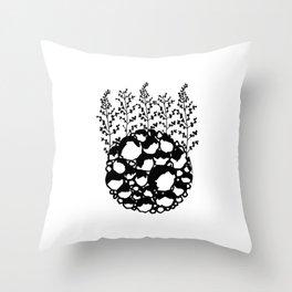 Planet Flora Throw Pillow