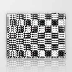 Hob Nob Black White Quarters Laptop & iPad Skin