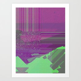 future worlds digital landscape Art Print