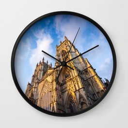 York Minster Cathedral in York, England Wall Clock
