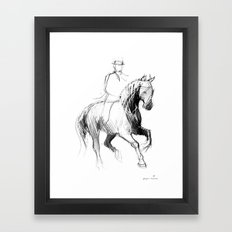 Dressage Horse Framed Art Print