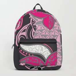 Polynesian Tribal Pineapple Collage Backpack