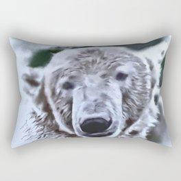 Animals and Art - Polar Bear Rectangular Pillow
