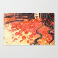 Beneath the Red Flowers Canvas Print