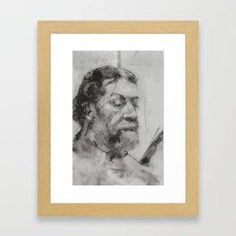 Study of Dan Framed Art Print